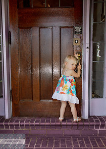 Malia at the Door -