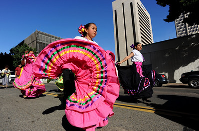 Guadalupe Day - Downtown San Diego: Picture shows: Alexa Murillo from the group Ballet Folklorico Tapatio de San Diego.