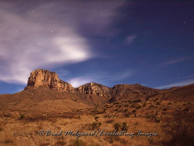 """Moonlit Clouds"" Guadalupe Mountains National Park, TX"