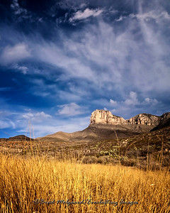 """Grass Meadow Morning""-El Capitan/Guadalupe National Park, Texas"