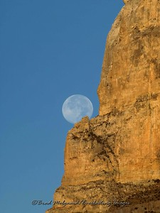 """Full Moon Portrait""  El Capitan at the Guadalupe Mountains National Park, TX."