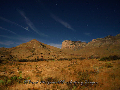 """Signal Peak and Venus."" El Capitan at the Guadalupe Mountains National Park"