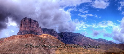 """September Showers Panorama"" Guadalupe Mountains National Park, Texas"