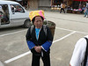 One of our two  lady porters.  Zhuang women have round faces, wear their hair short and like to cover it with turban like headgear.