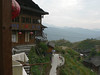 We are having lunch at a restaurant at the lower end of Ping An village.  Great view looking back on the path,