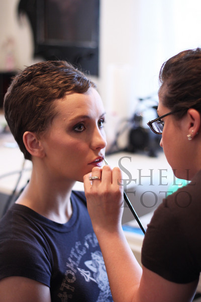 <h2>Here's a first look at the actress Erica Linz getting her finishing touches.