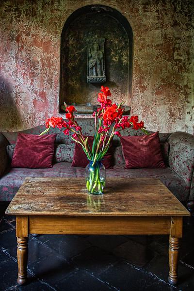 Table Flowers, Antigua, Guatemala