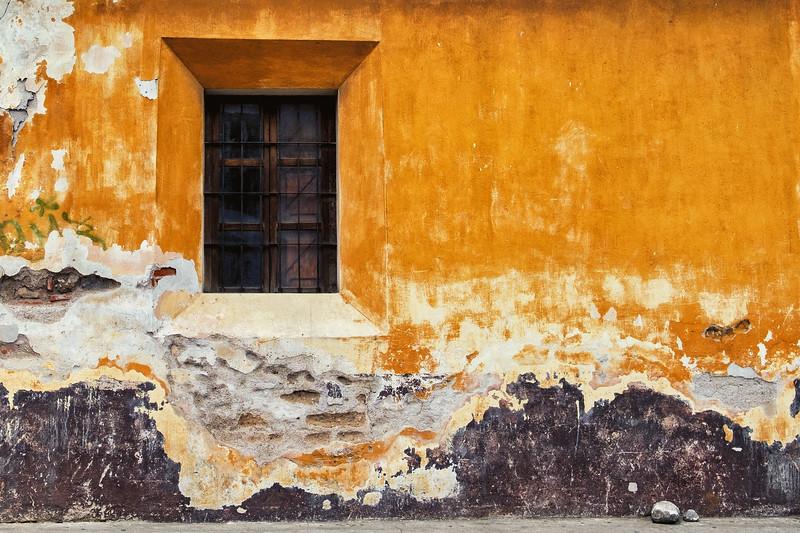 Window and Stones, Antigua, Guatemala