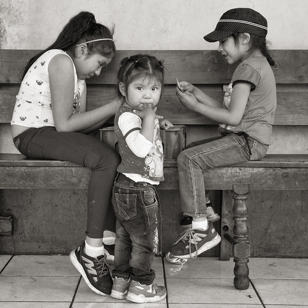 Girls Playing Cards, San Andrés de Itzapa, Guatemala