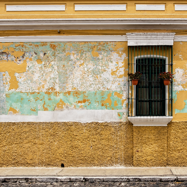 Yellow Green Wall, Antigua, Guatemala