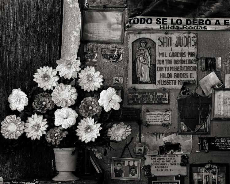 Offerings, Temple of St. Simon (Maximón), San Andrés de Itzapa, Guatemala