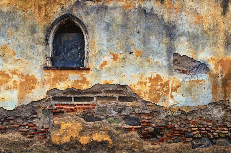 Arched Window, Antigua, Guatemala