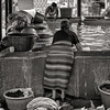 Woman Washing Laundry at Communal Pool, Guatemala