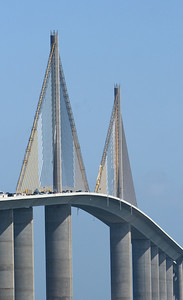 SUNSHINE SKYWAY BRIDGE IN TAMPA BAY, FLORIDA. USA