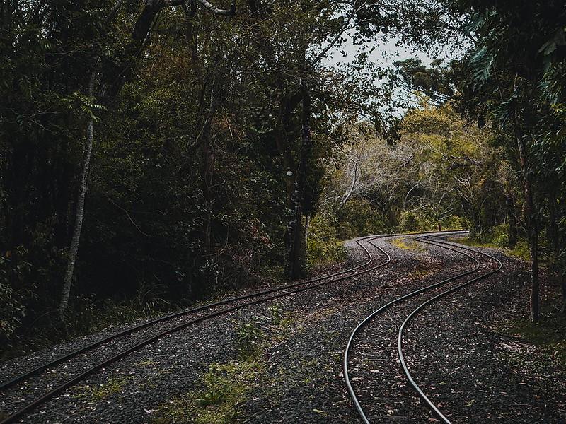 Vías de tren al Parque Nacional Iguazú
