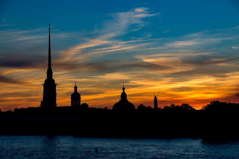 Peter and Paul Fortress at Sunset