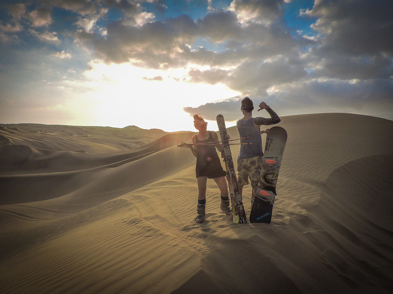 Sandboarding is a Peruvian adventure option too