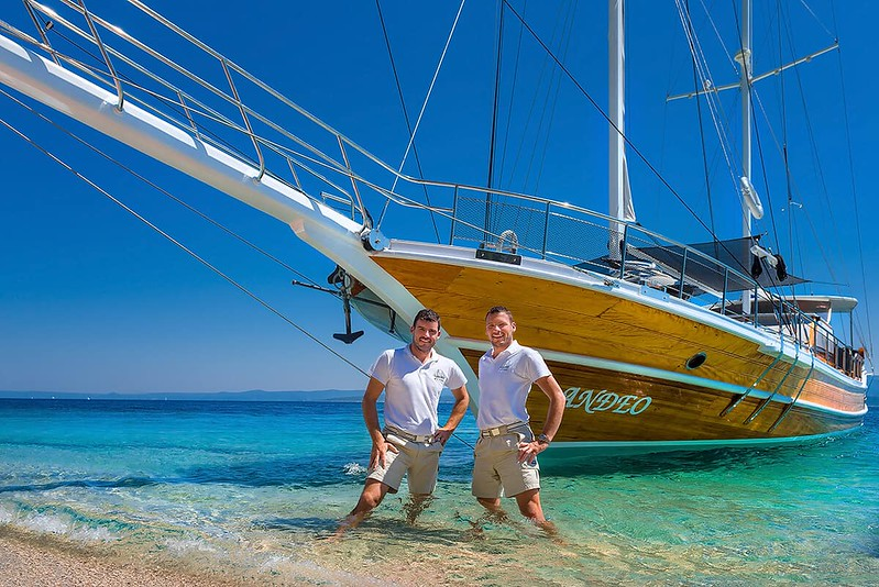 Two Croatian locals ready to help you on your holiday