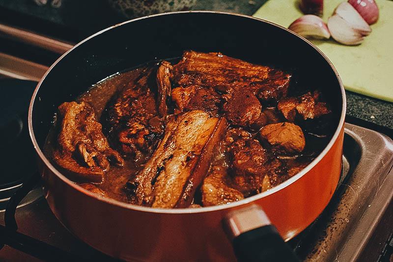 Homemade Filipino adobo