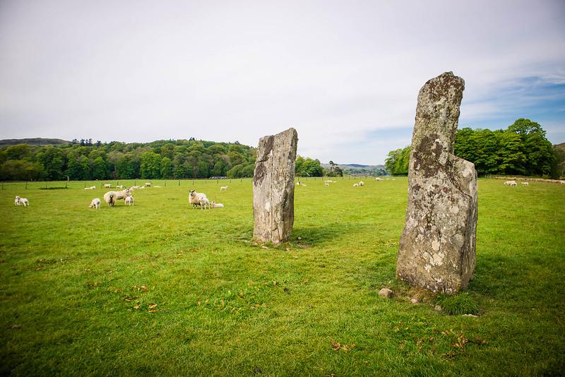 Piedras de pie en Kilmartin Glen