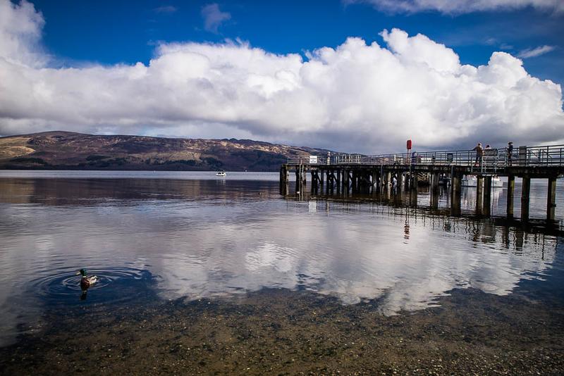 Luss Pier en Loch Lomond