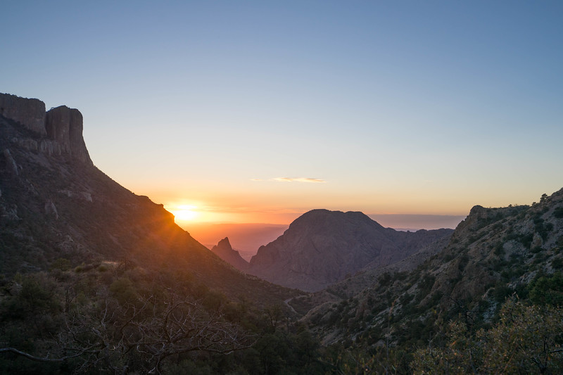 Sunset over Big Bend National Park
