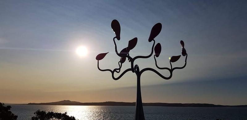 sculpture on the beaches of Waiheke Island
