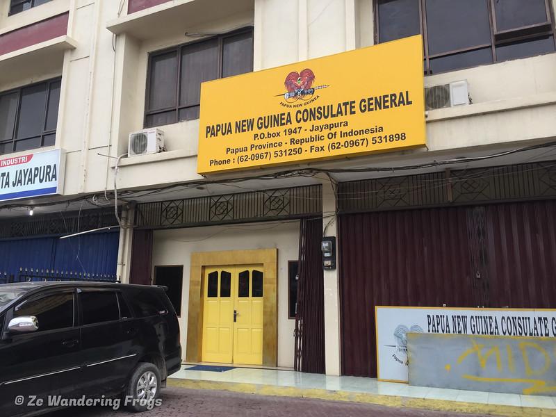 PNG Consulate in Jayapura