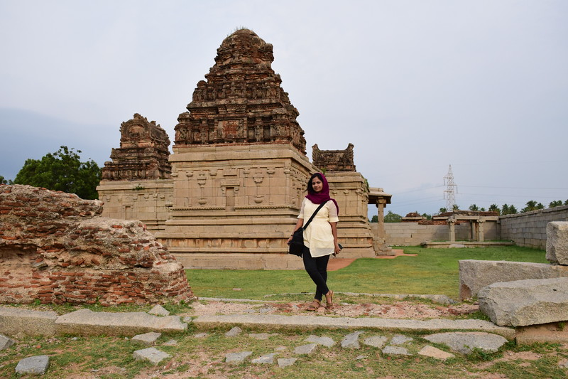 Sinjana at Hampi Temple