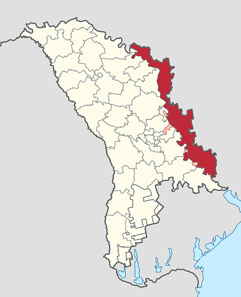 Transnistria in Moldova (de-facto) (semi-secession).svg
