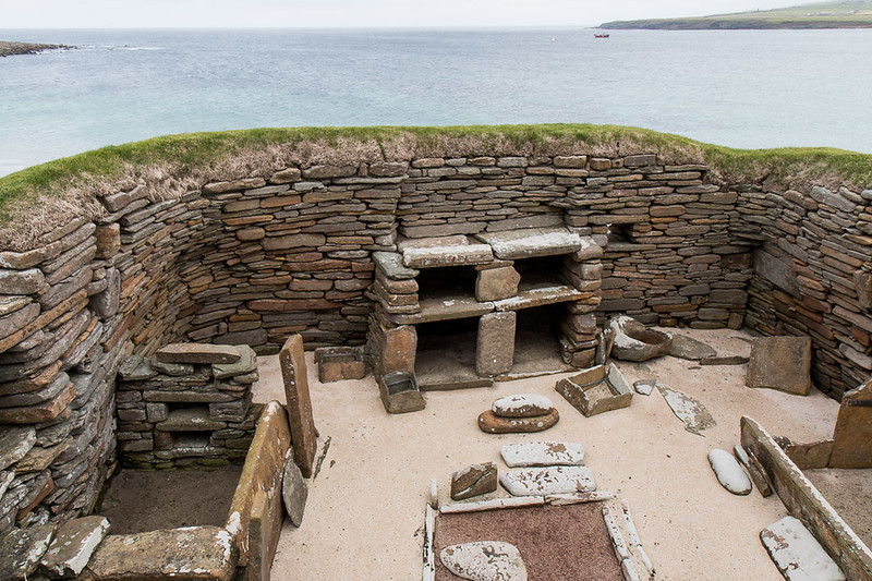 Excavated Home on Skara Brae