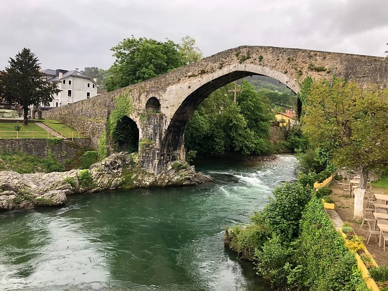 A Roman bridge in Asturias