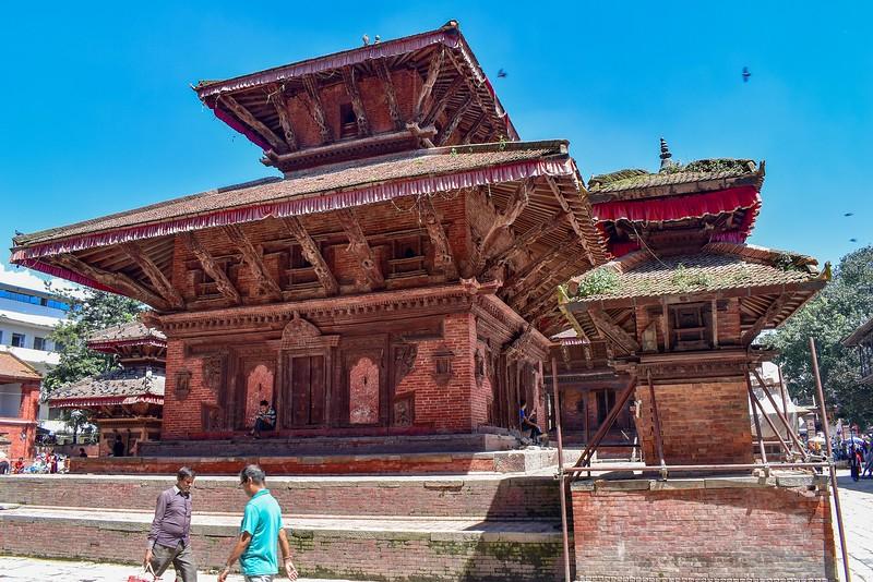 Plaza Durbar en Katmandú, Nepal