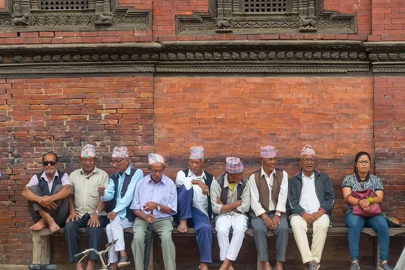 Hombres nepaleses en Kathmandu