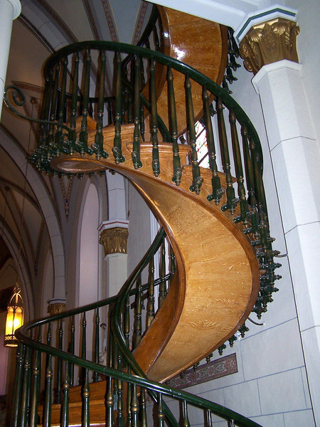 Unsupported staircase of Loretto Chapel