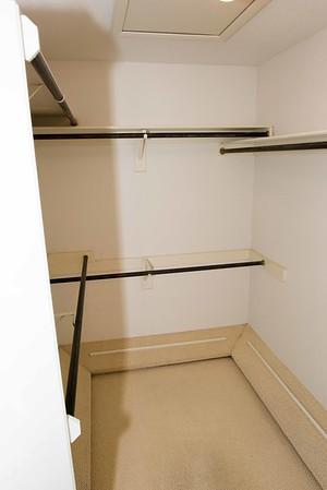 really small master closet