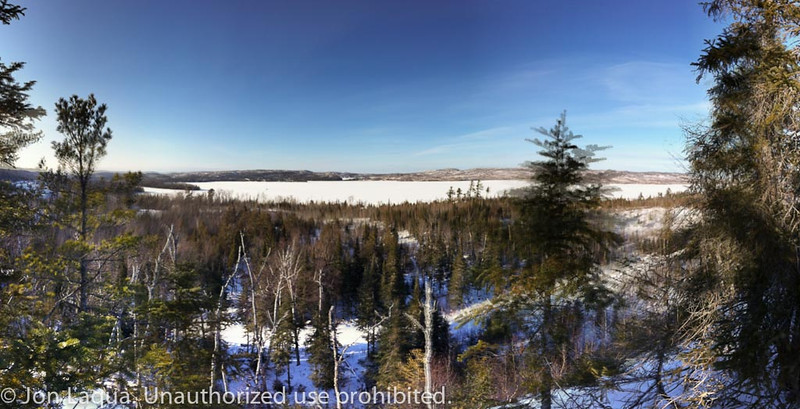 Saturday we hiked up to the Overlook. Gunflint Lake in the mid-ground, Canada across the lake.