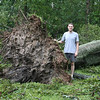 Brad and the fallen water oak.