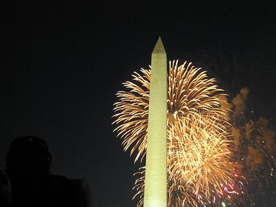 Fireworks Over the Washington Monument