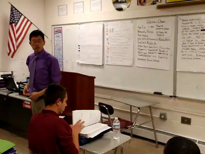 Part 2 - Matt Stone teaches inquiry-based American history lesson. Recorded at the Mystic Valley Regional Charter School May 2012  NOTE: This is a collection of unedited clips.