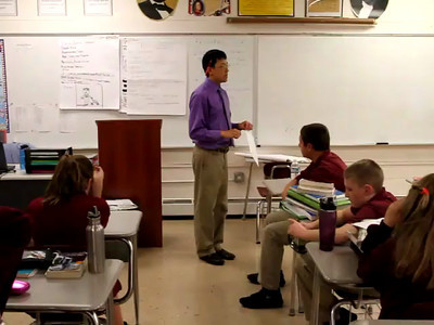 Part 1 - Matt Stone teaches inquiry-based American history lesson. Recorded at the Mystic Valley Regional Charter School May 2012  NOTE: This is a collection of unedited clips.