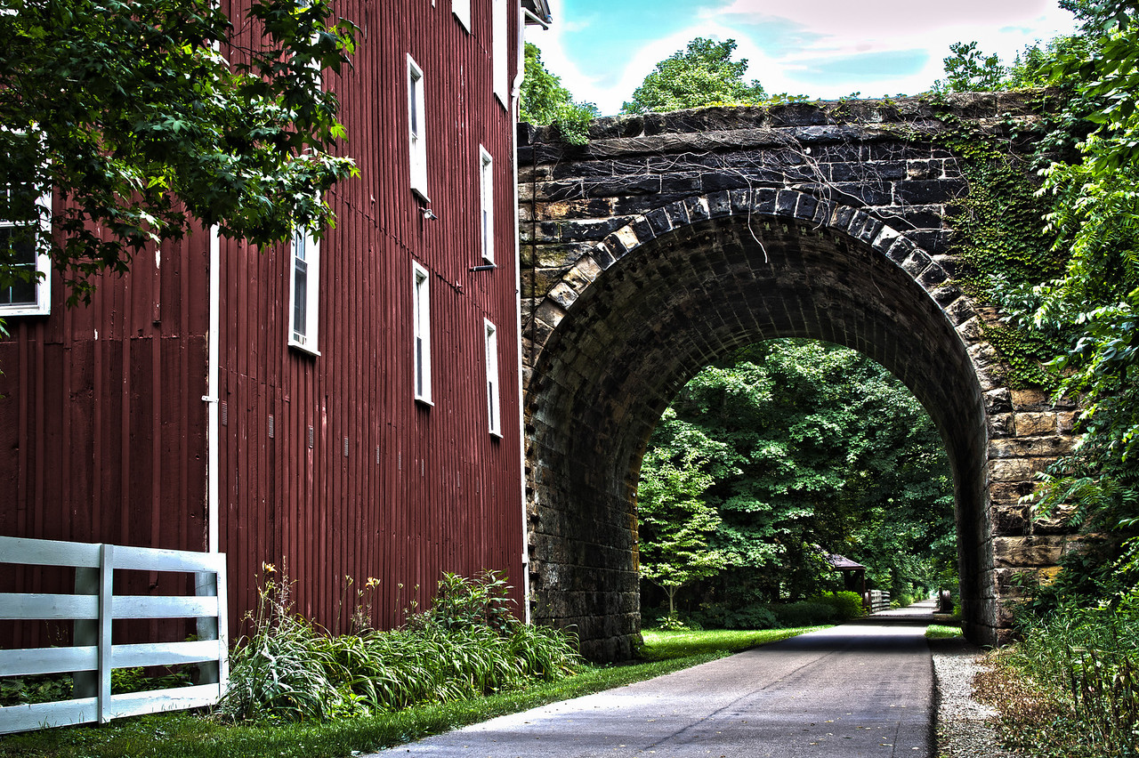 The tunnel in Howard, Ohio along the Kokosing Gap Trail.