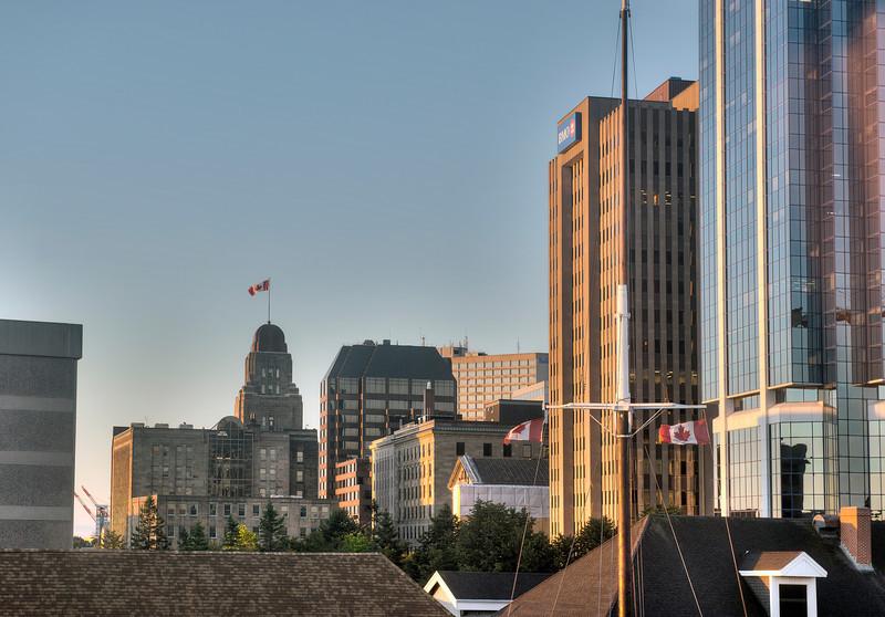 Halifax, Nova Scotia, Canada, at sunrise.