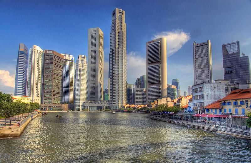 HDR: Singapore skyline.