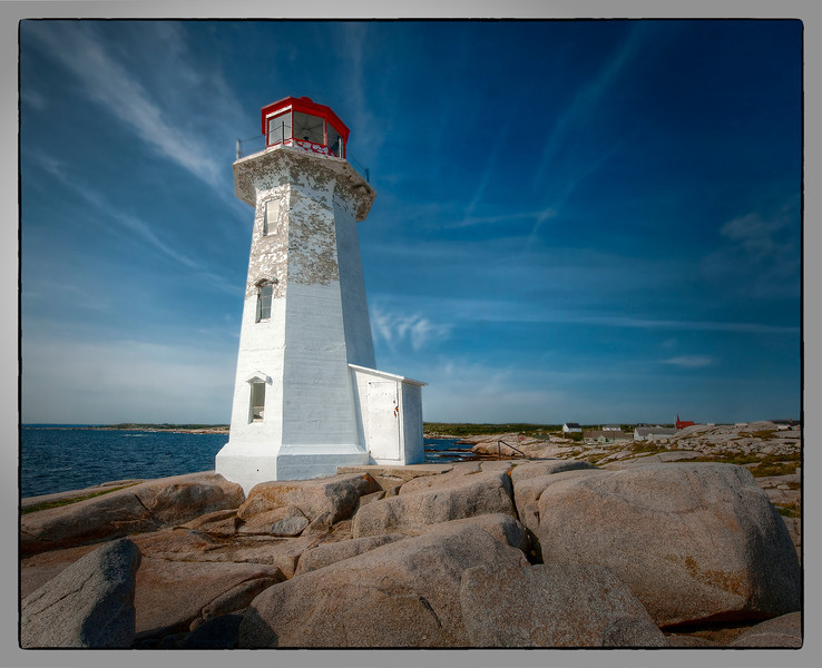 The lighthouse at Peggy's Cove, Nova Scotia, Canada.