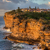 HDR: Sunrise on the cliffs at Watson's Bay, New South Wales, Australia.