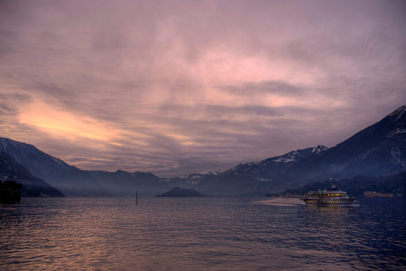 HDR: Lake Como, Italy.