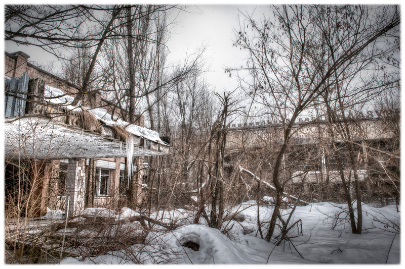 Inside the 30 kilometer Chernobyl exclusion zone, Pripyat, Ukraine - HDR.