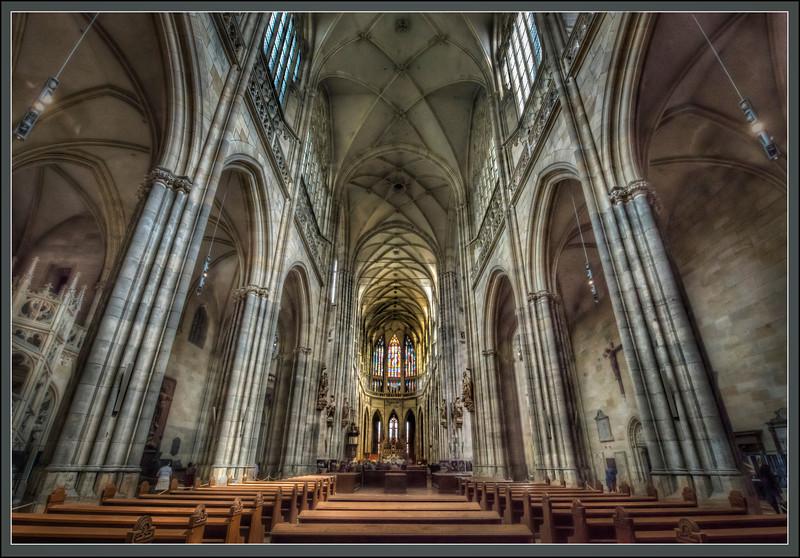 St. Vitus Cathedral, Prague, Czech Republic.