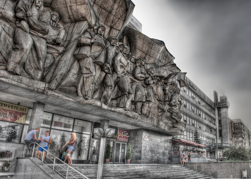 The Weight of the State: One of the more ghastly reminders of Communism near the Old Town Square in Minsk, Belarus - HDR.